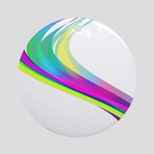 Colorful Lines Round Ornament