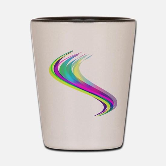 Colorful Lines Shot Glass