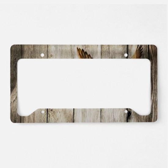 rustic barnwood wild duck License Plate Holder