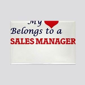 My heart belongs to a Sales Manager Magnets