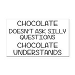Chocolate Understands Rectangle Car Magnet