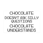 Chocolate Understands 35x21 Wall Decal