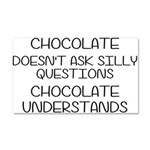 Chocolate Understands Car Magnet 20 x 12