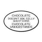 Chocolate Understands 35x21 Oval Wall Decal