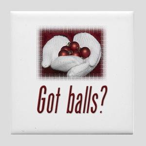 Got Balls? Tile Coaster