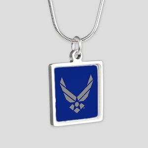USAF Logo Silver Square Necklace