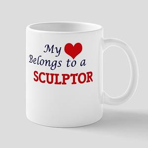 My heart belongs to a Sculptor Mugs