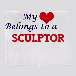 My heart belongs to a Sculptor Throw Blanket