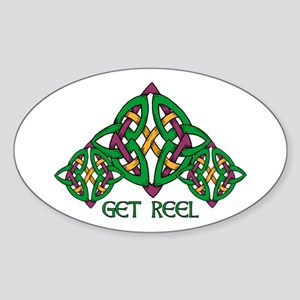 Get Reel Oval Sticker