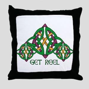 Get Reel Throw Pillow