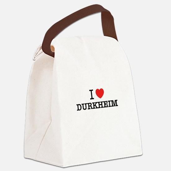 I Love DURKHEIM Canvas Lunch Bag