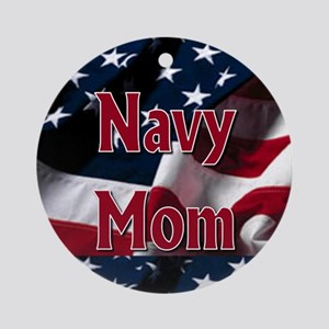 Navy mom Ornament (Round)