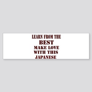 Learn best from Japan Bumper Sticker