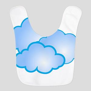 Clouds Polyester Baby Bib