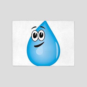 Water Drop 5'x7'Area Rug