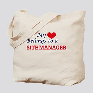 My heart belongs to a Site Manager Tote Bag