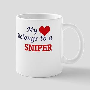 My heart belongs to a Sniper Mugs