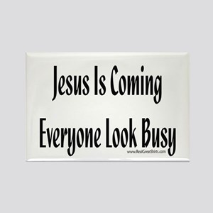 Jesus is coming Shirts and gi Rectangle Magnet