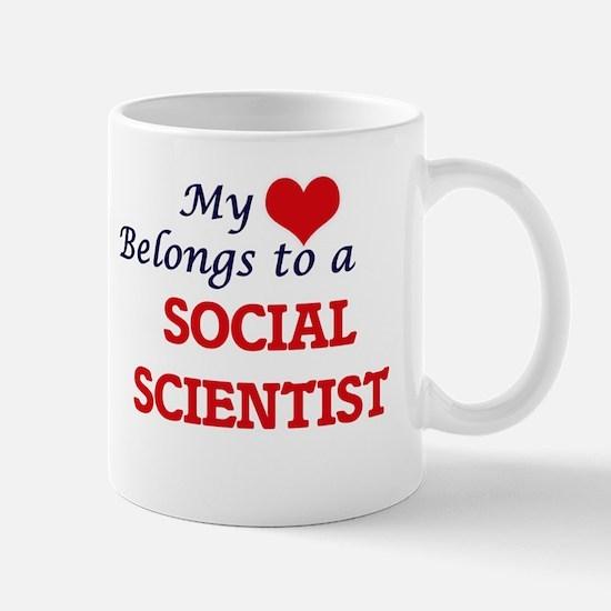 My heart belongs to a Social Scientist Mugs