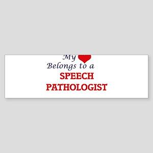 My heart belongs to a Speech Pathol Bumper Sticker