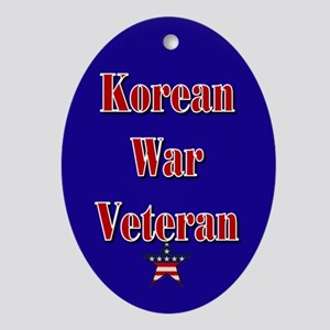 Korean War Veteran Oval Ornament