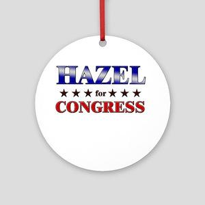 HAZEL for congress Ornament (Round)