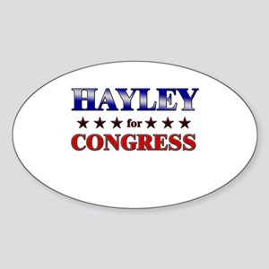 HAYLEY for congress Oval Sticker