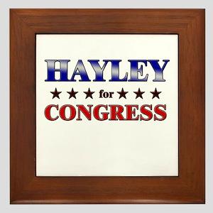 HAYLEY for congress Framed Tile