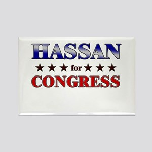HASSAN for congress Rectangle Magnet