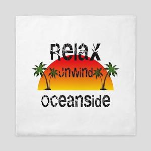 Relax, Unwind, Oceanside Queen Duvet