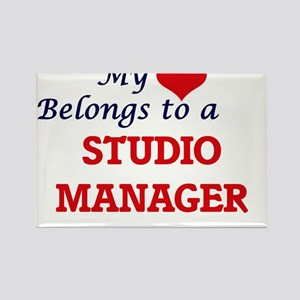 My heart belongs to a Studio Manager Magnets