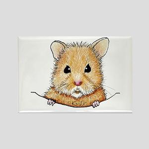Pocket Hamster Rectangle Magnet