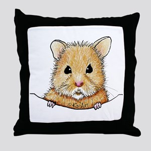 Pocket Hamster Throw Pillow