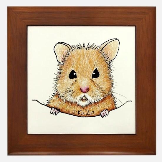 Pocket Hamster Framed Tile