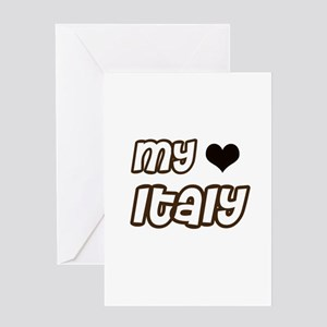 my heart Italy Greeting Card
