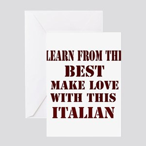 Learn best from Italian Greeting Card