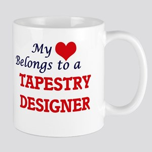 My heart belongs to a Tapestry Designer Mugs