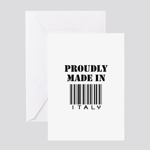 Proudly made in Italy Greeting Card