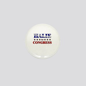 HALIE for congress Mini Button