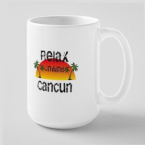 Relax, Unwind, Cancun Mugs