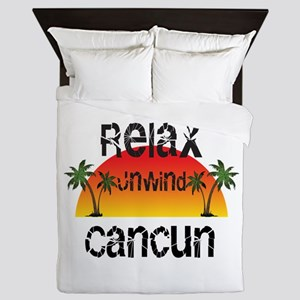 Relax, Unwind, Cancun Queen Duvet