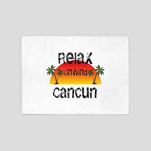Relax, Unwind, Cancun 5'x7'Area Rug