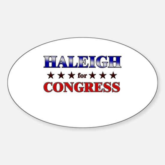 HALEIGH for congress Oval Decal