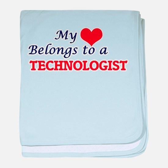 My heart belongs to a Technologist baby blanket