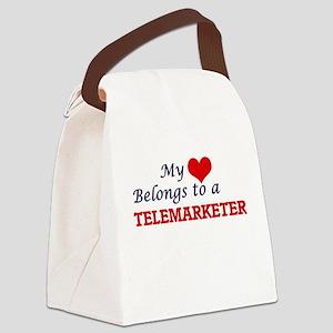 My heart belongs to a Telemarkete Canvas Lunch Bag