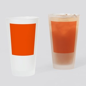 Neon Orange Solid Color Drinking Glass