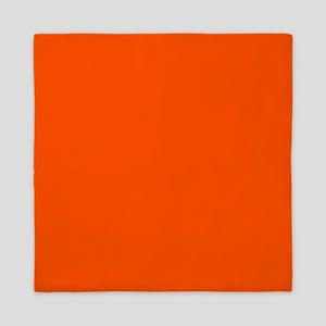 Neon Orange Solid Color Queen Duvet
