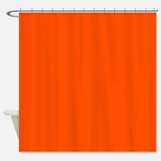 Neon Orange Solid Color Shower Curtain