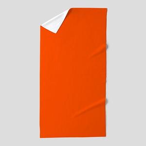 Neon Orange Solid Color Beach Towel