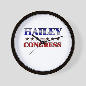 HAILEY for congress Wall Clock